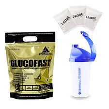 5,63€/kg Peak Glucofast Kohlenhydrate (3kg Beutel) + BONUS SHAKER + 3 PROBEN