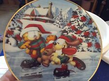 3 Danbury Mint Garfield Christmas Collector Plates