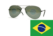 Brazilian Flag Sunglasses Bandeira do Brasil Aviators Glasses Soccer Classic