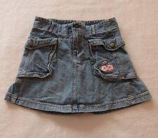 Disney Fairies Girls Blue Jean Denim 100% Cotton Skirt Size 8
