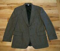 Pendleton Gray Wool Blend Two Button Vented Blazer Coat Mens 40 R