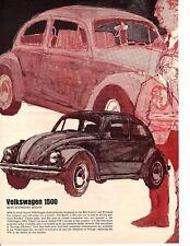 """1969 VW / VOLKSWAGEN 1500 """"BEST ECONOMY SEDAN""""  ~ ORIGINAL ARTICLE / AD"""
