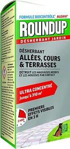 Désherbant Total Puissant Roundup Concentré Jardin 700 ML Anti-Herbes Et Mousse