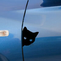Funny Cat Face Peering Car Decal Window Truck Auto Bumper Sticker Reflective