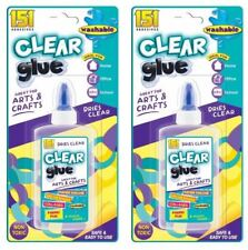 2x 150ml Non Toxic Safe Clear Glue School Art Craft Adhesive Bond Stationery
