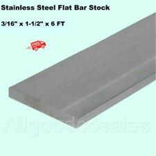 Stainless Steel Flat Bar Stock 316 X 1 12 X 6 Ft Rectangular 304 Mill Finish