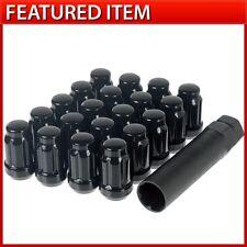 20 BLACK SPLINE DRIVE TUNER LUG NUTS 12X1.5 FITS ROTA DRAG ENKEI RAYS VOLK WHEEL