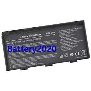 BTY-M6D Genuine Battery For MSI GT60 GX60 GT70 GT660 GX660 GT680 GT663R 7800mAh