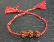RUDRAKSH RUDRAKSHA BEAD BRACELET WRIST BAND WRISTBAND RAKHI MALA YOGA RED THREAD