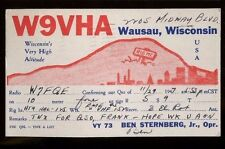 Amateur Radio Station W7FQE 1947 to Wausau Wisconsin W9VHA - P930