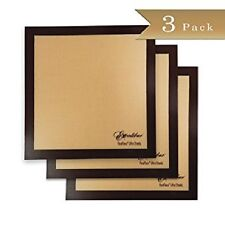 "3-PACK Excalibur ParaFlexx Ultra Silicone Re-usable Non-stick Sheets 14"" x 14"""