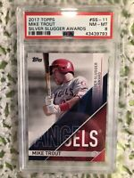 2017 topps Mike Trout PSA 8 NM-MT silver slugger awards #SS-11 American Angels'