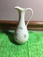 """Vintage Belleek Irish Porcelain 7"""" Spill Vase. Handcrafted."""
