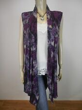 BLACK APPLE Knit Drape Vest sz 12 As New - BUY Any 5 Items = Free Post