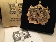 Texas State Capital Christmas Ornament 2002 Door Hinge With Box