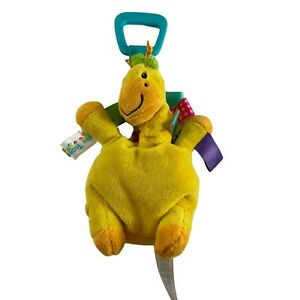 Taggies Yellow Giraffe Rattle Pal Plush Baby Infant Toy With Clip Lovey