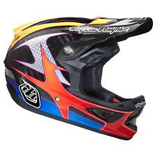 Troy Lee Designs TLD D3 Cycling MTB Helmet Gwin CF Black Orange Blue Medium MD