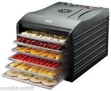 Aroma Professional 6 Tray Food Dehydrator model AFD-815B Black, BPA-Free