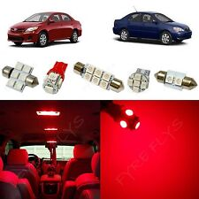 6x Red LED lights interior package kit for 2003-2013 Toyota Corolla TC1R
