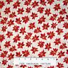Christmas Fabric - Holiday Accents Poinsettia Swirl Cream - RJR Cotton YARD