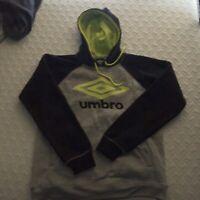 Men's New UMBRO BLACK Hooded Sweatshirt, Medium Hoodie