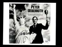 Peter Ueberroth PSA DNA Coa Hand Signed 8x10 Photo Autograph