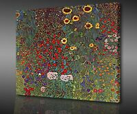 ICONIC GUSTAV KLIMT SUNFLOWERS BOX CANVAS PRINT WALL ART PICTURE PHOTO