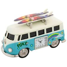 Techno VW Decorated Surf Van with Roof Surf Boards Desk Clock