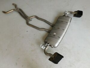 Porsche Cayenne Diesel 4.2 TDI 958 92A 13 Rear Exhaust System Muffler Tips J122