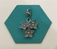 Origami Owl Forget-Me-Not Flower Dangle w/Swarovski Crystals - NEW - DG4086
