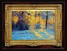 "ORIGINAL Oil Painting Handmade Arseni ~ CHRISTMAS 6"" X 4"" NO FRAME 2Artist Art"