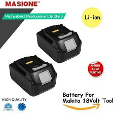 2x18V LXT Li-Ion 4.0Ah Battery for Makita Bl1830 Bl1815 Bl1840 194205-3 Lxt-400