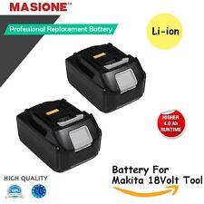 2x18V LXT Li-Ion 4.0Ah Battery for Makita Bl1830 Bl1815 Bl1840 194205-3 Lxt-400