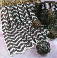 Rosebud Ripple Afghan crochet PATTERN INSTRUCTIONS
