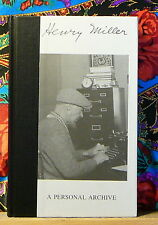 HENRY MILLER RARE ESOTERIC PERSONAL ARCHIVE ART MANUSCRIPTS PRIVATE AFFAIRS