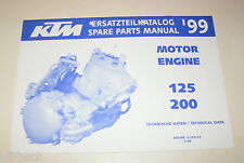 Teilekatalog Motor KTM 125 / 200 - Modelljahr 1999!