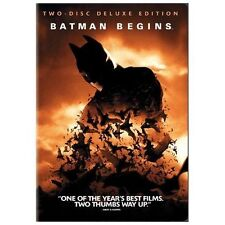 NEW Batman Begins DVD, 2005, 2-Disc Set, Deluxe Edition Christian Bale Free S&H