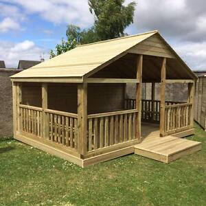 Wooden Outdoor Gazebo 3m/10ft - BBQ Treated Outdoor Garden Summer House Office