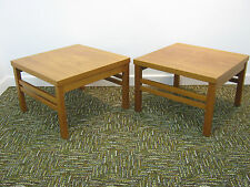 Vintage Teak Coffee Tables Pair Retro Lamp Tables by Litton Furniture Northants
