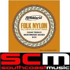 Daddario EJ33 Folk Nylon Classical Ball End Guitar Strings w 80/20 Bronze Basses