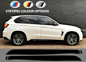 Compatible with BMW X5 F15 / X6 F16 M PERFORMANCE VINYL Side STICKERS Stripes