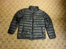 PATAGONIA Black Solid Polyester Zip Front Casual Kid's Down Coat Sz XL/14 HH4019
