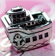 Genuine Pandora Silver Cruise Ship Boat Holiday Travel Charm S925 ALE
