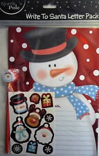 Write to Santa Shiny Letter, Pencil & Sticker Pack (A4 Paper, Pencil, Envelope)
