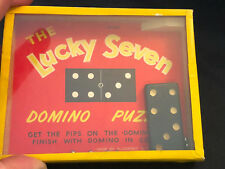 Old Vtg The Lucky Seven Domino Puzzle Made By R. Journet & Co. London England