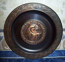 Vintage USSR Russia Decorative plate copper CITY VLADIMIR Diameter 8.94 inches