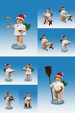 Weihnachtsengel 10-teilig mit Krone / Weihnachtsbäckerei Höhe ca 6,5 cm NEU