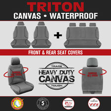 Mitsubishi Triton Dual Cab 2015-On TRADIES Heavy Duty Canvas Car Seat Covers