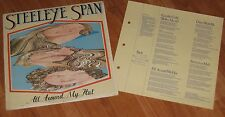 STEELEYE SPAN - ALL AROUND MY HAT  VINYL LP WITH CARD INSERT / GREEN LABELS