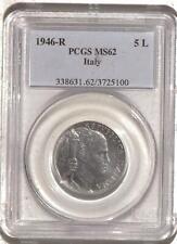 Italy 1946-R 5 Lire PCGS MS62 | Rare World Coin (MAO3725100)